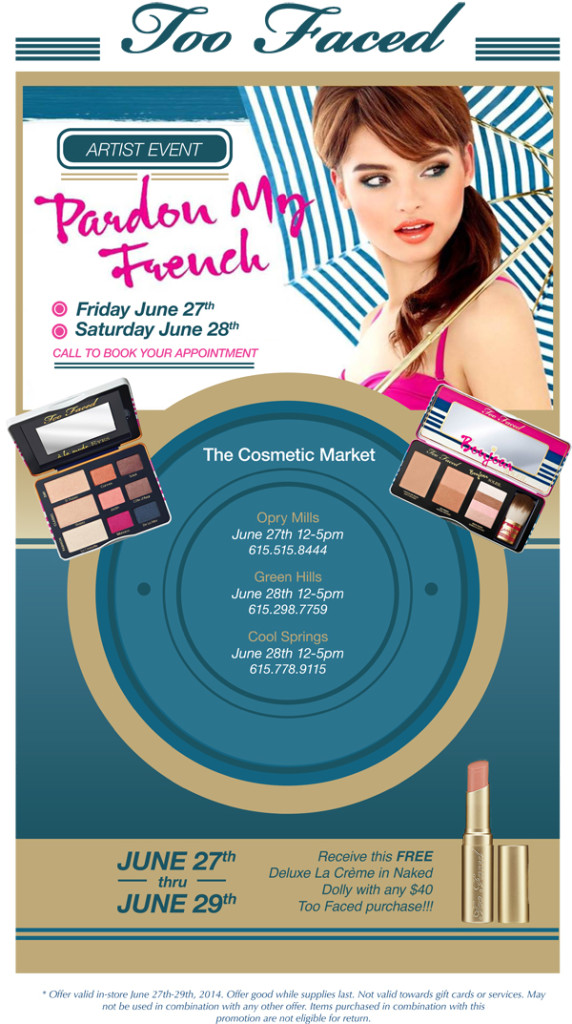 Cosmetic market too faced event