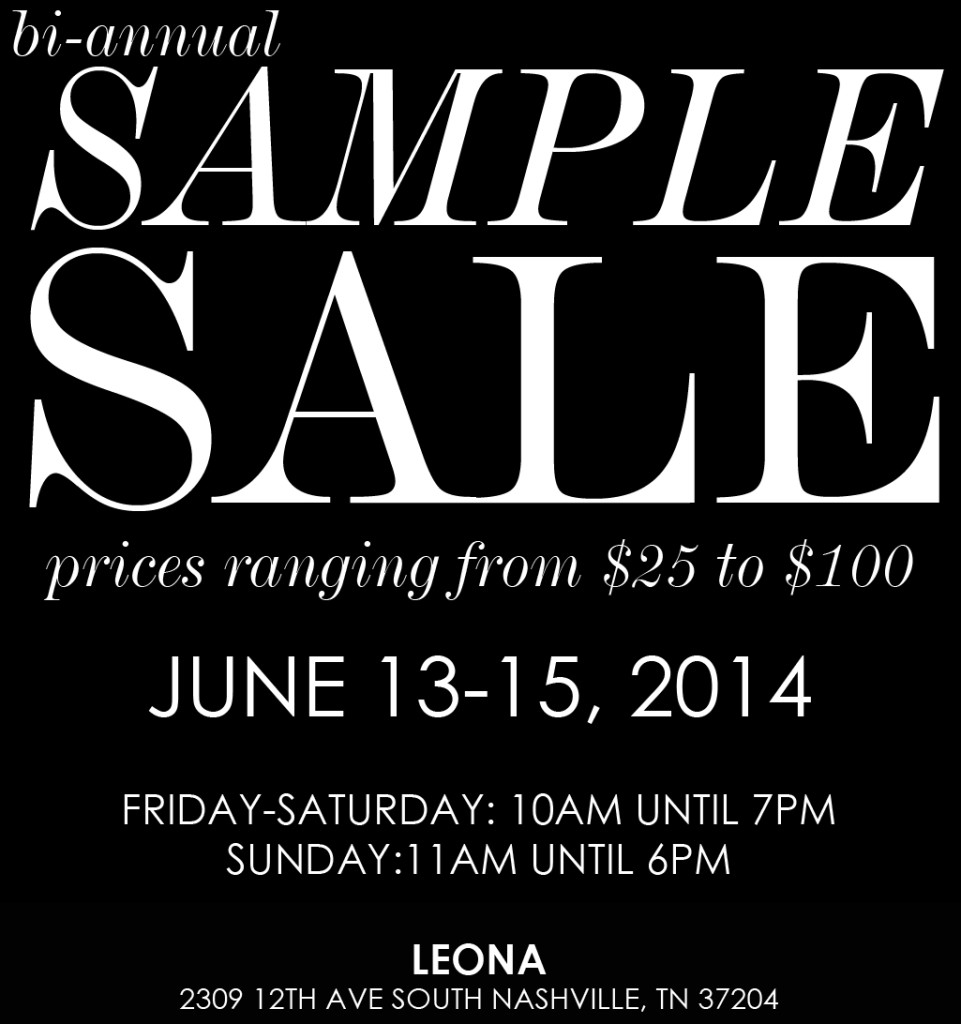 Leona Sample Sale