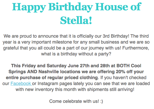 House of Stella 3rd Birthday