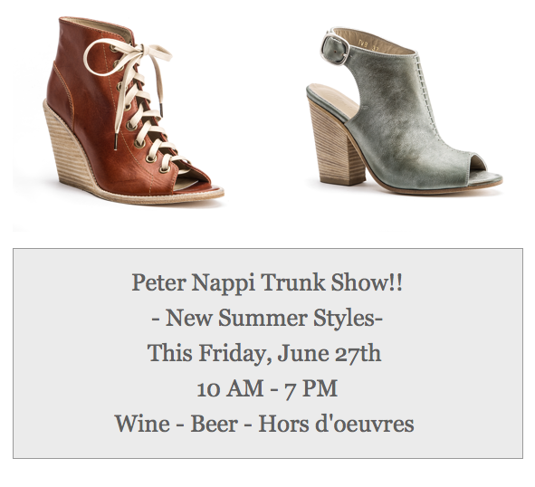 H. Audrey Peter Nappi Trunk Show