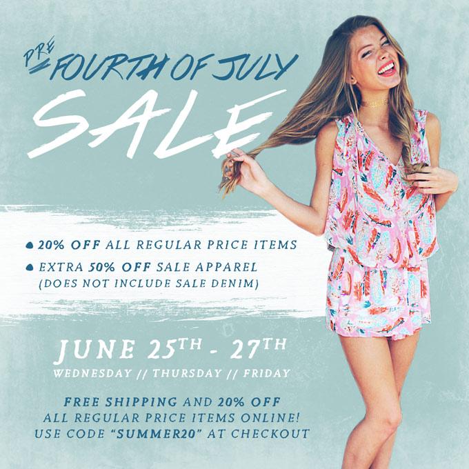 soca pre july 4 sale