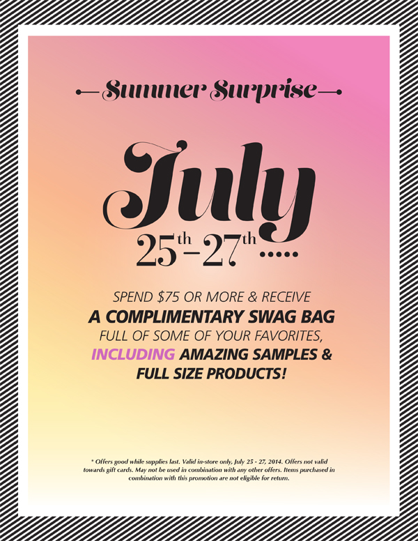 Cosmetic Market Summer Sale