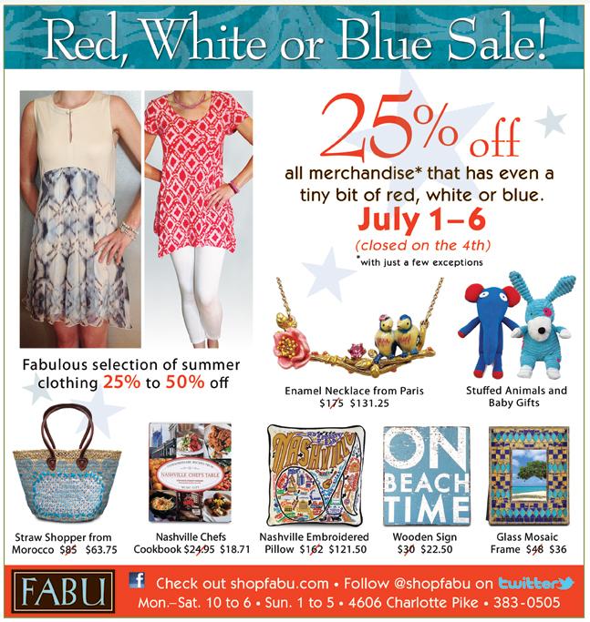 Fabu July 4 Sale