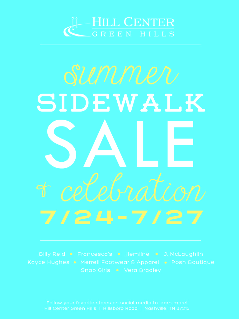 Hill Center Summer Sidewalk Sale