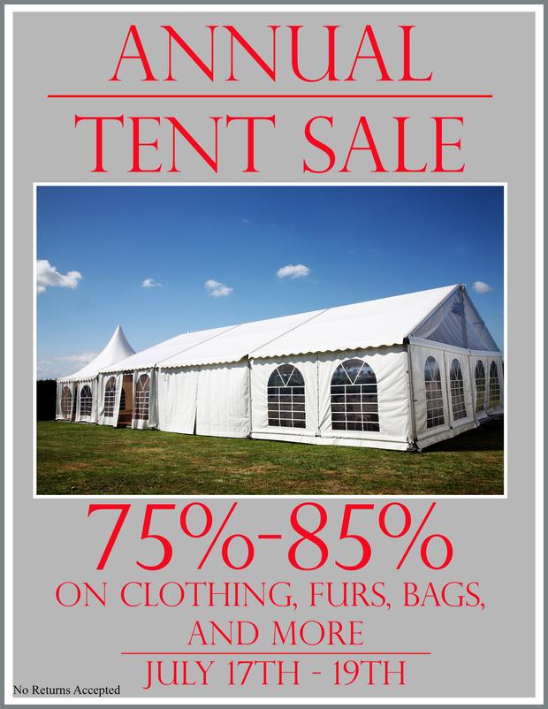 Jamie Tent Sale