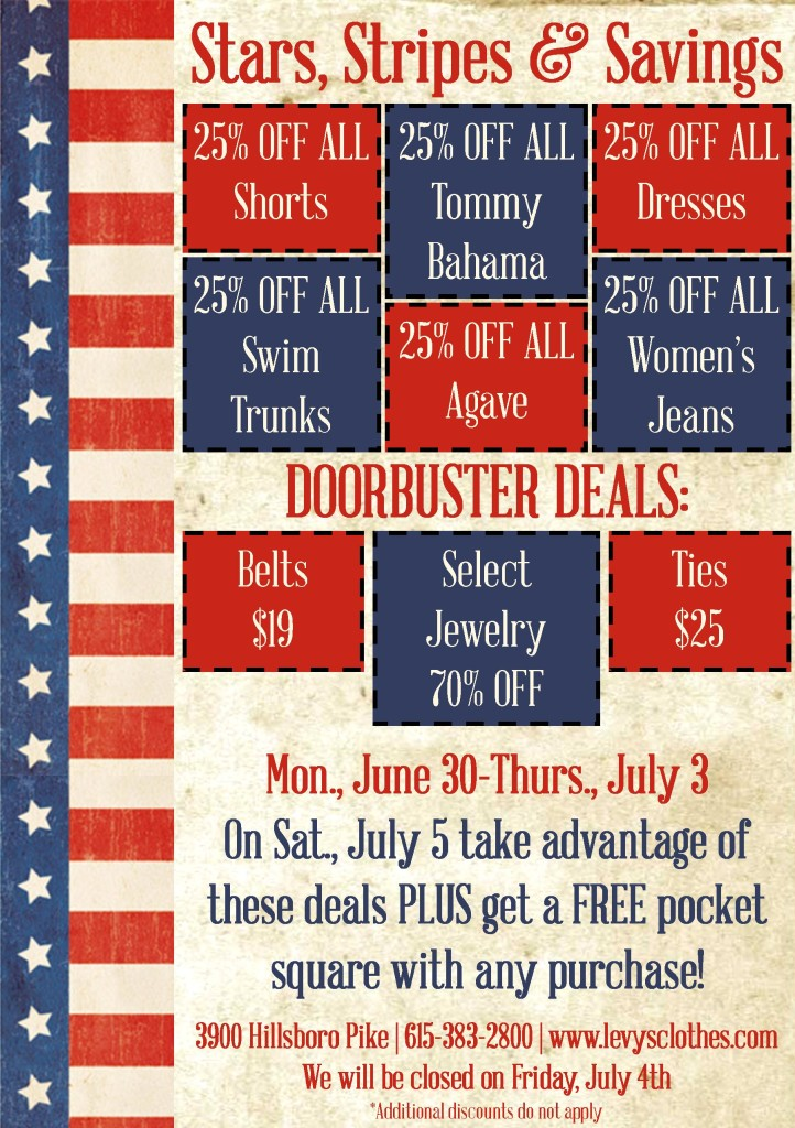 Levys July 4 Sale