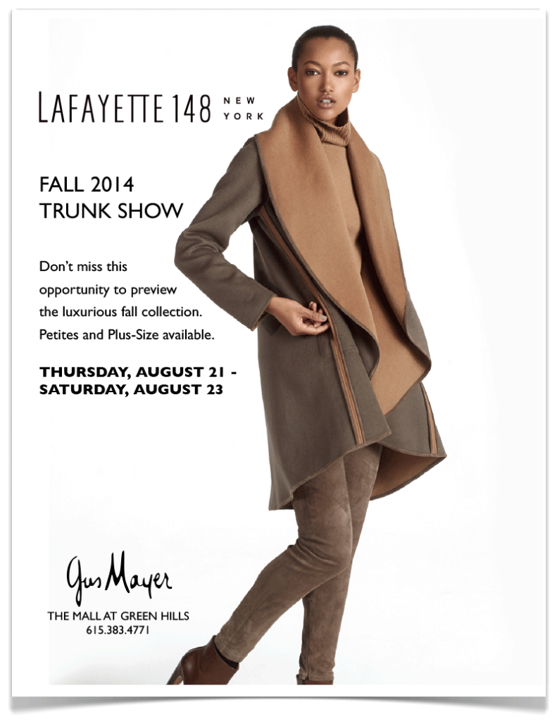 Gus Mayer Lafayette 148 Trunk Show