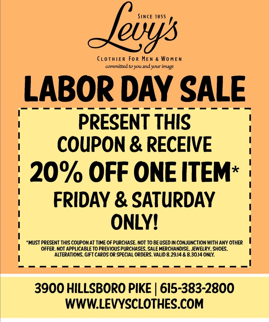 Levys Labor Day Sale
