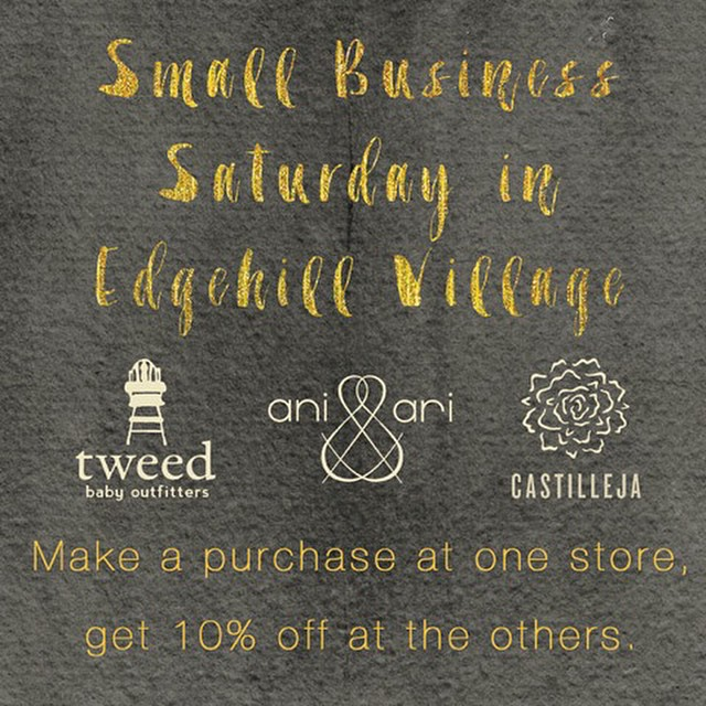 Edgehill Village Small Business Saturday