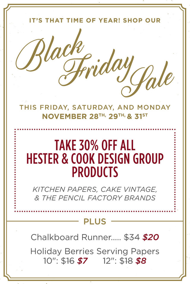 Hester and Cook black friday