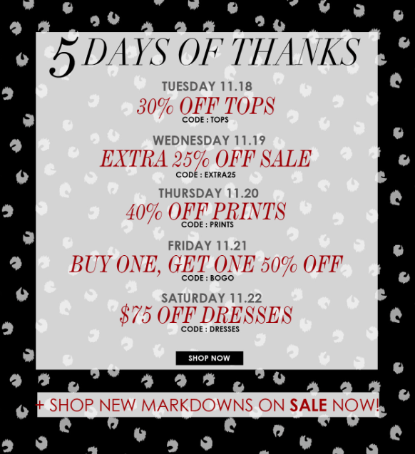 Leona Give Thanks Sale