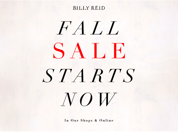 Billy Reid Fall Sale
