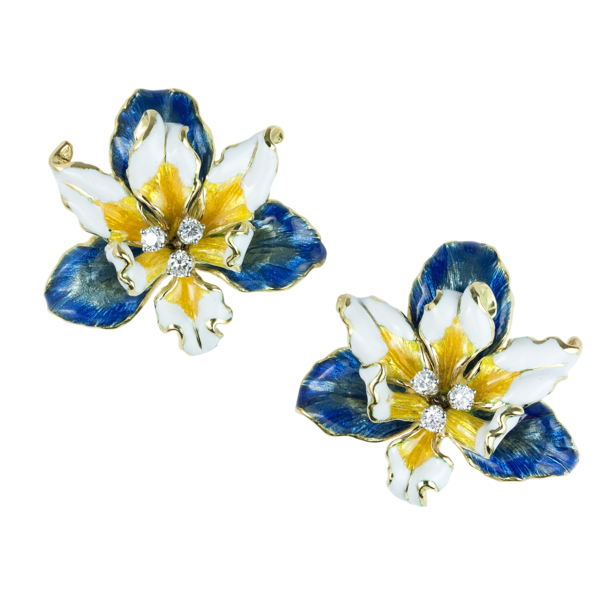 enamel diamond earrings webb and david pin