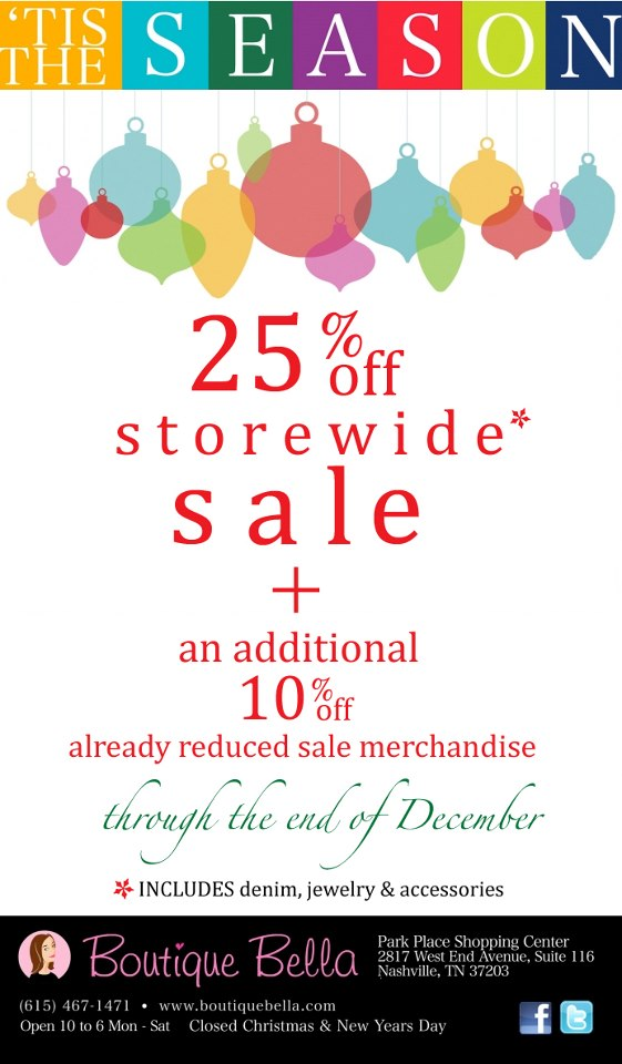 Boutique Bella Holiday Sale