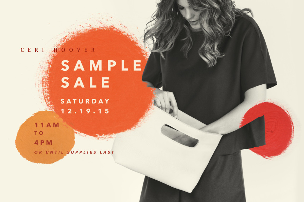 Ceri Hoover sample sale