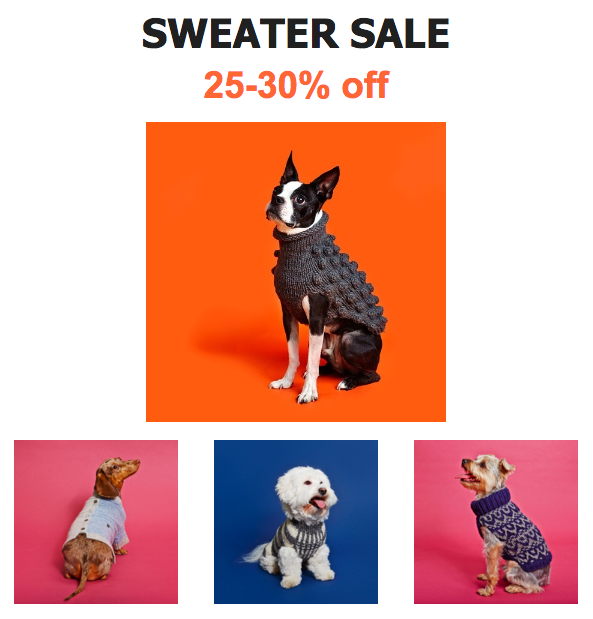 Winston Dog Sweater Sale