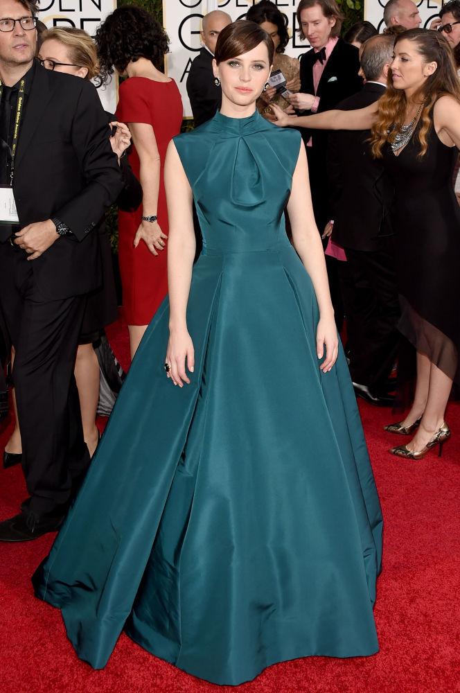 Felicity Jones Christian Dior Golden Globes