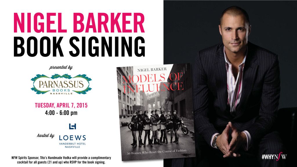 Nigel Barker Book Signing Nashville Fashion Week