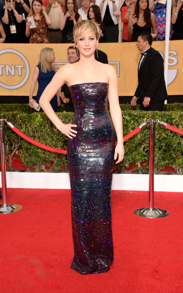 Jennifer Lawrence Christian Dior SAG Awards