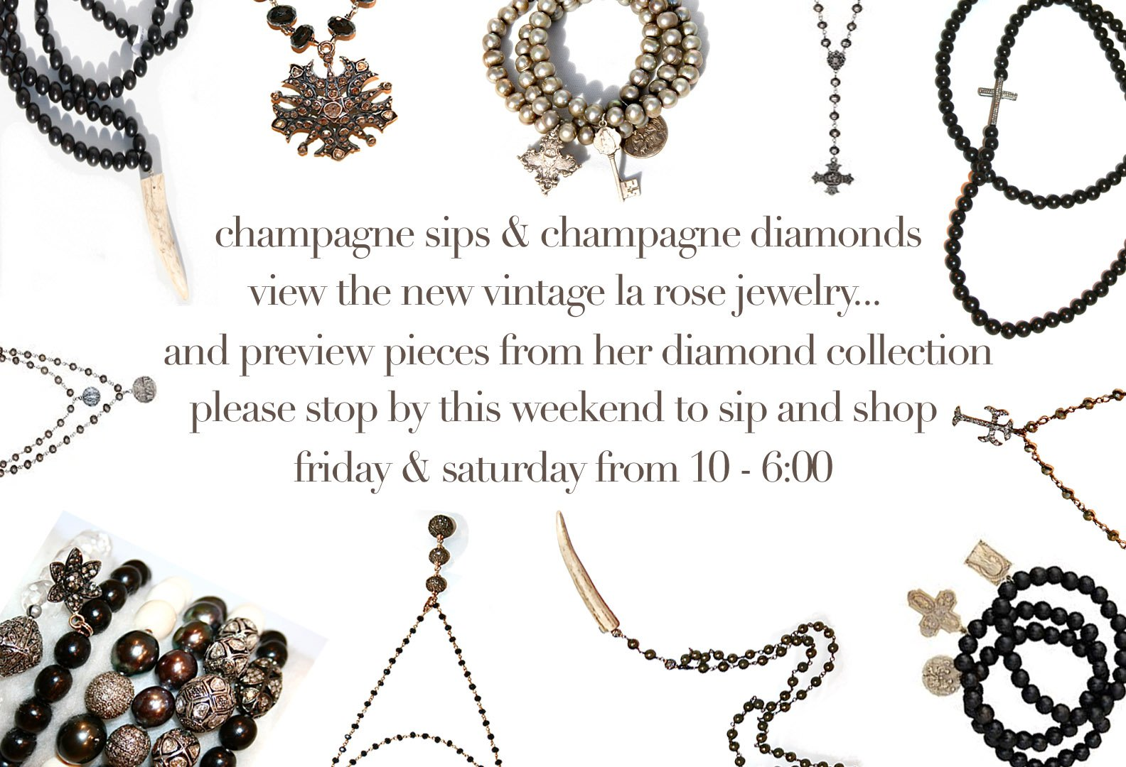la rosa jewelry, the perfect pair trunk show