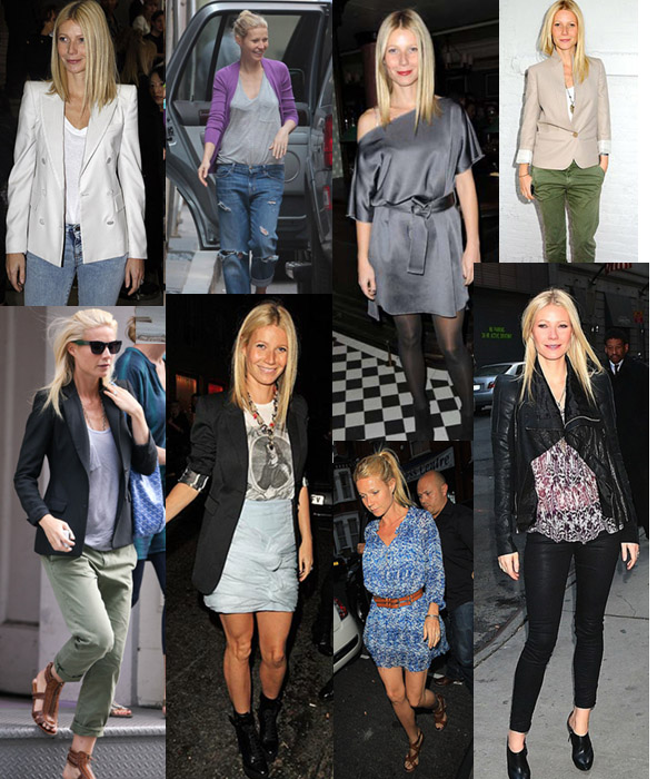 street style images of celebrity gwyneth paltrow