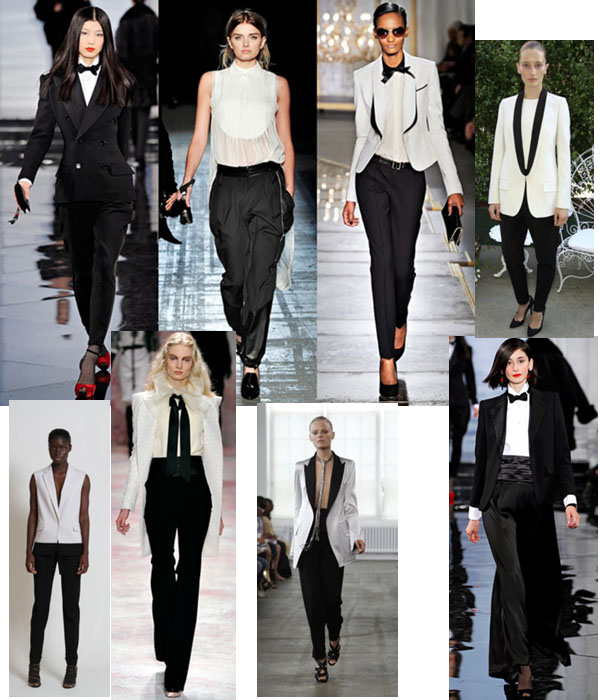 images of womens tuxedo's on the runway