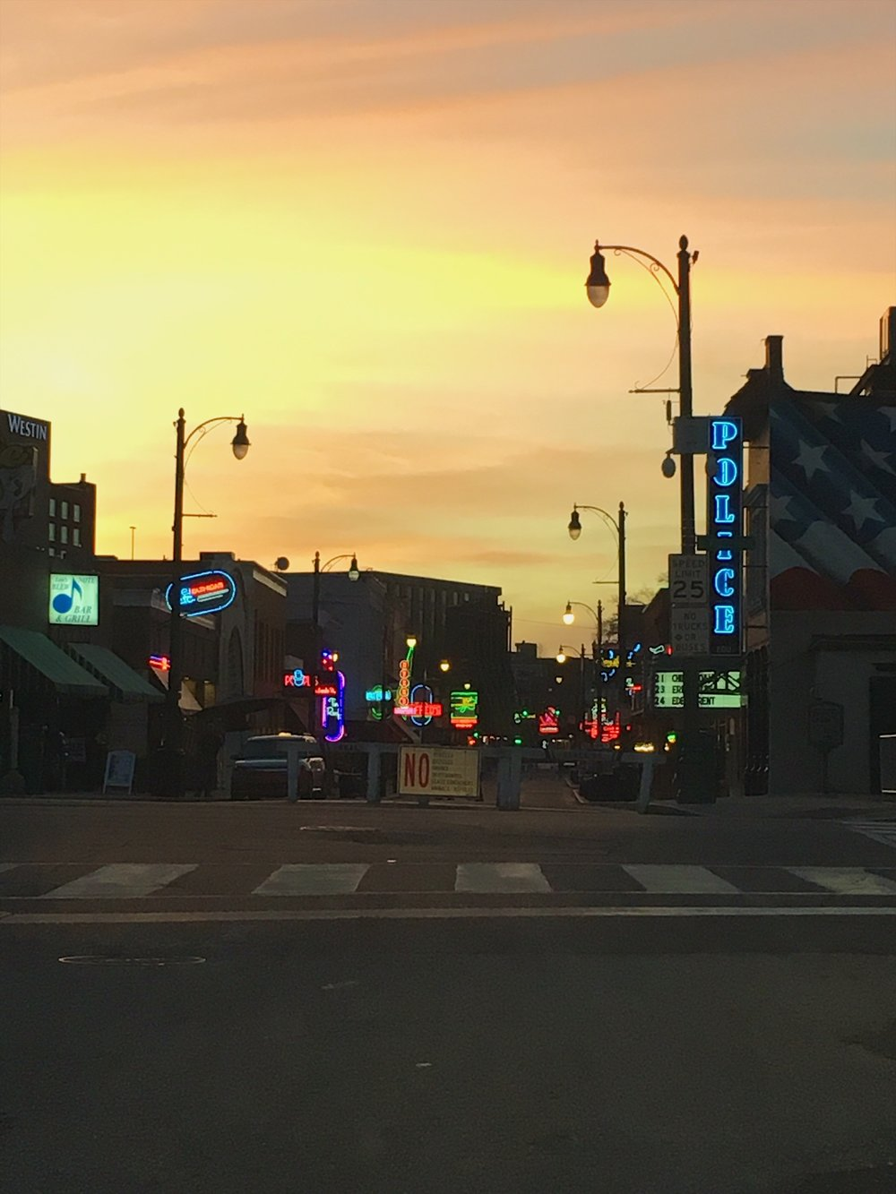 Sunset on Beale Street. This was as close as I could get.