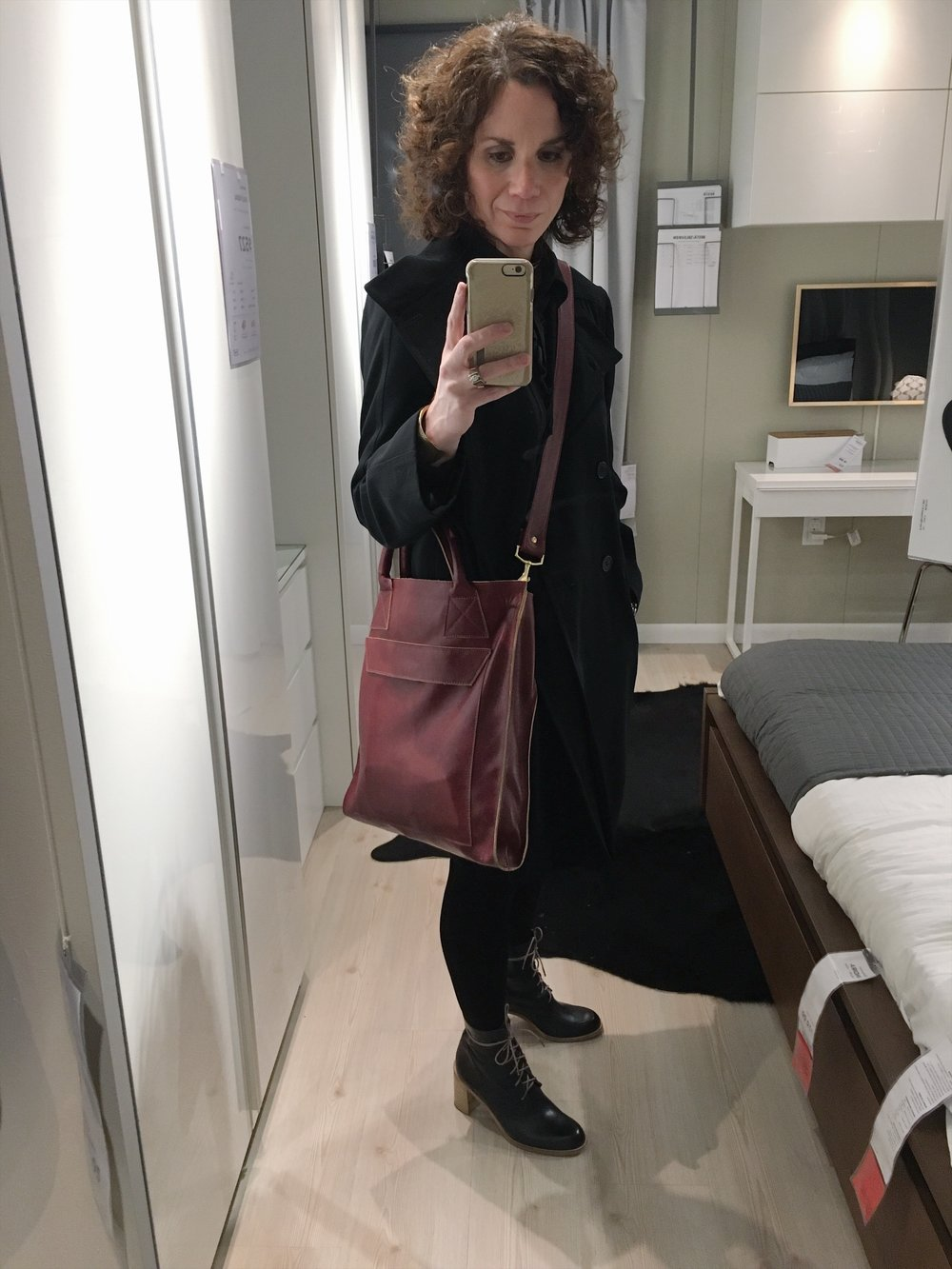 Ikea selfie! Jacket Vintage Richard Tyler The Private Label | Tote Ceri Hoover