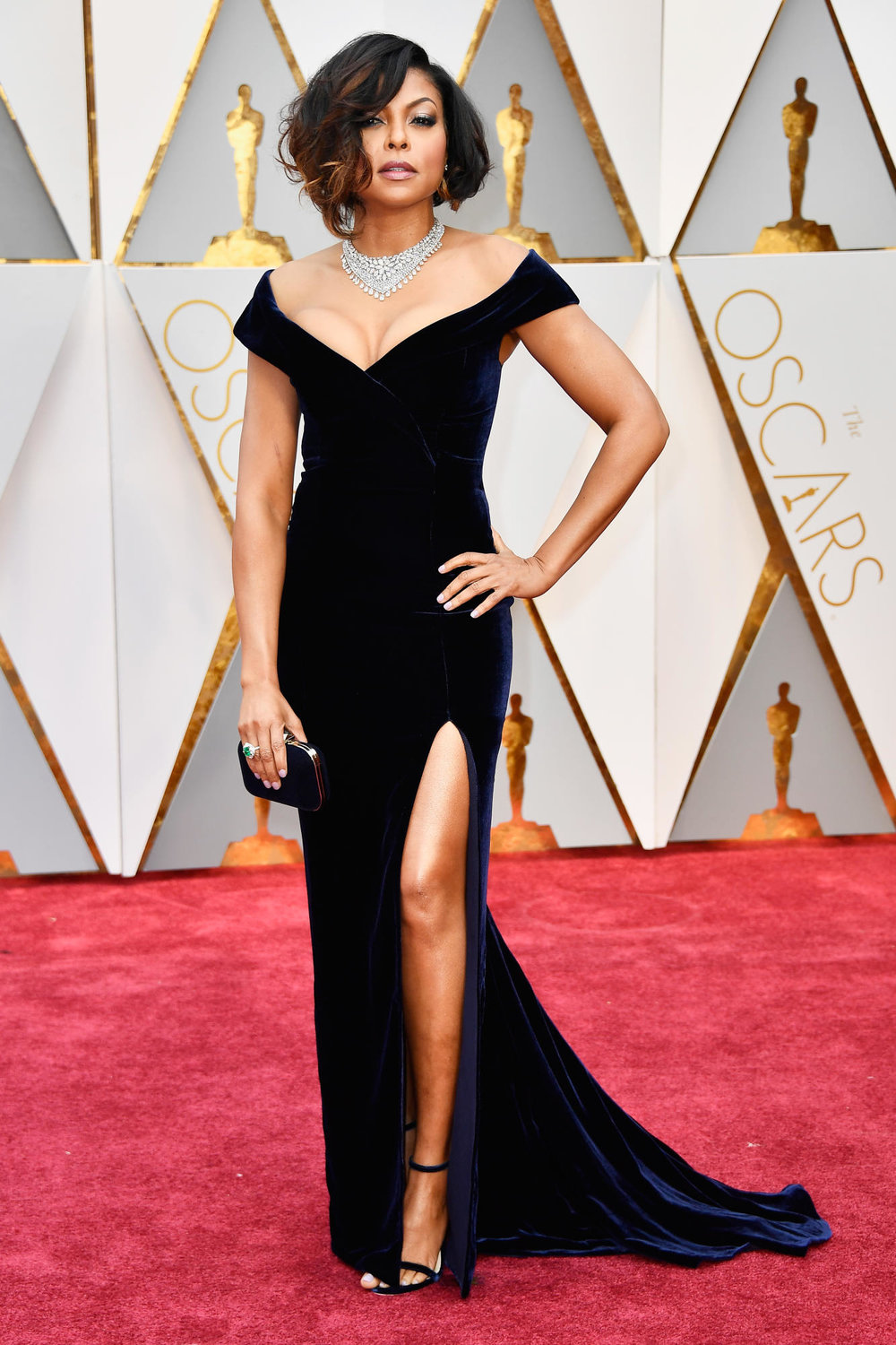 So sexy! Taraji P. Henson in custom Alberta Ferretti