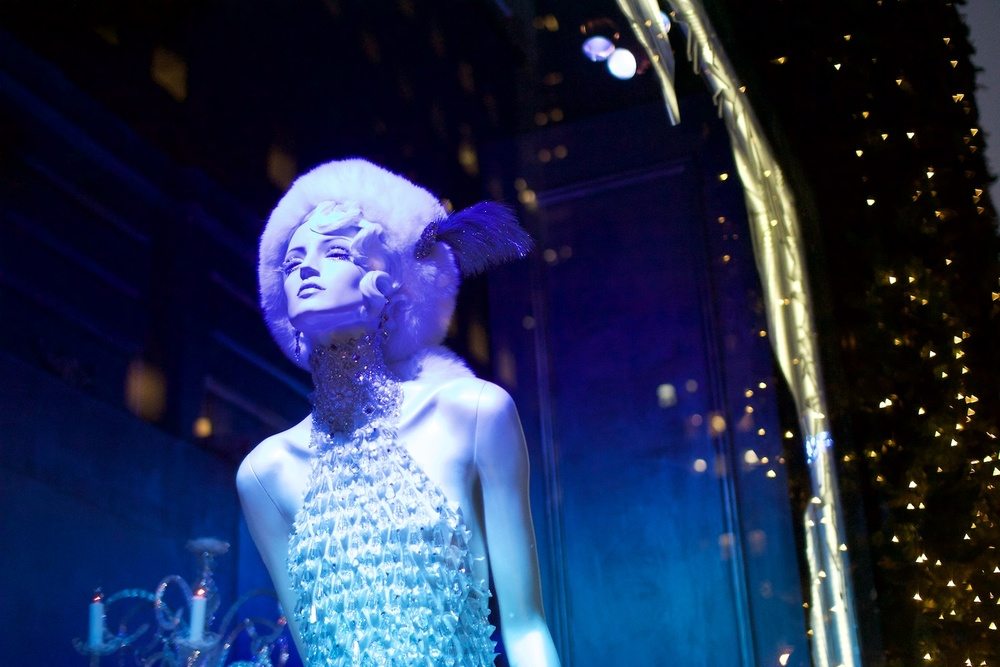 Window displays at  Saks Fifth Avenue
