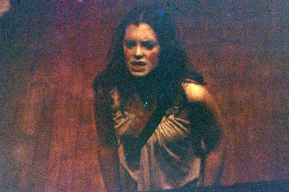 In a production of Marat / Sade at age 15, at my home-town community theater in reading PA