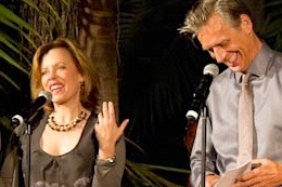 CTG artistic director & I work the crowd at an Antaeus gala