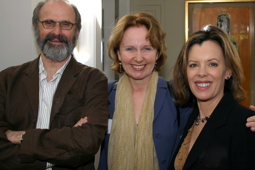 dan sullivan, kate burton & me at the first big antaeus benefit.