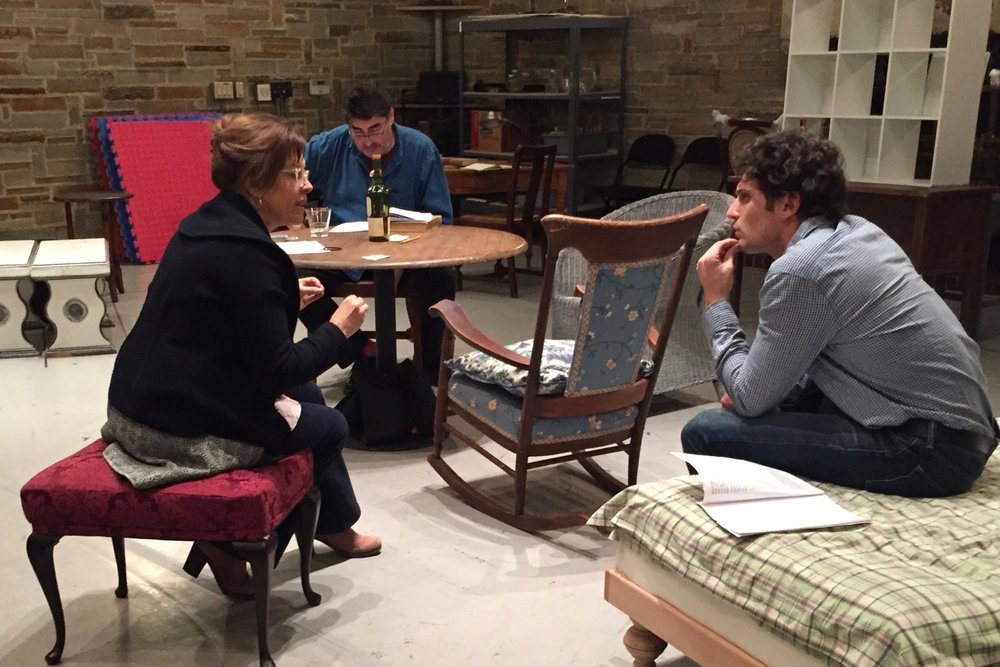 "rehearsing ""long day's"" with colin woodall & alfred molina"