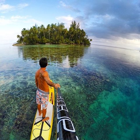 Happy 🌴 Aloha 🌴 Friday. I hope your weekend looks and feels a little something like this. Team Rider Raihei Tapeta with some beautiful photography. Check out his work at: @mataiea_lifestyle #naishsup #stand_up_paddle #standuppaddle #takemethere #crystalclearwater #paddleboarding #sup #gopro #tahiti #islandlife #paddlelife #paddle #alohafriday #tgif