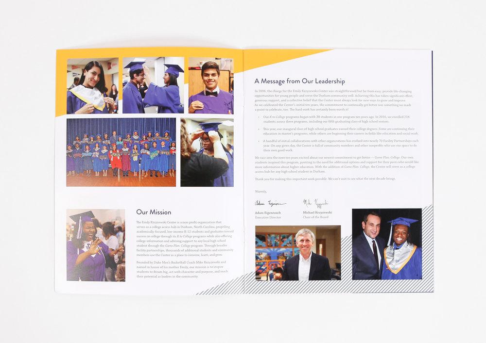 Emily Krzyzewski Center Annual Report | Sarah Jane Delk