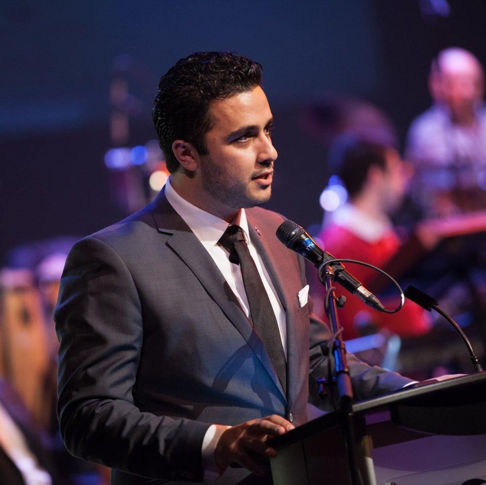 Mr. Aneki Nissan speaking at Christmas in Assyria Concert 2015