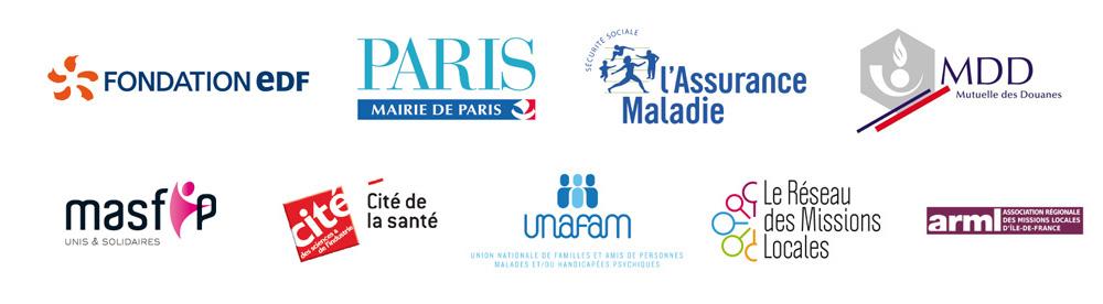Soutiens et partenaires de l'association laVita, dispositif gratuit de prévention du mal-être et du suicide chez les jeunes, à Paris et en Ile-de-France
