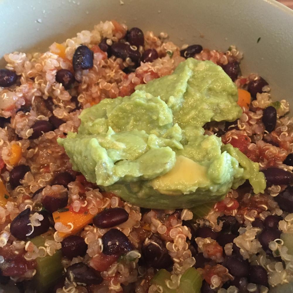 Black Beans in Quinoa Veggie Soup - 2