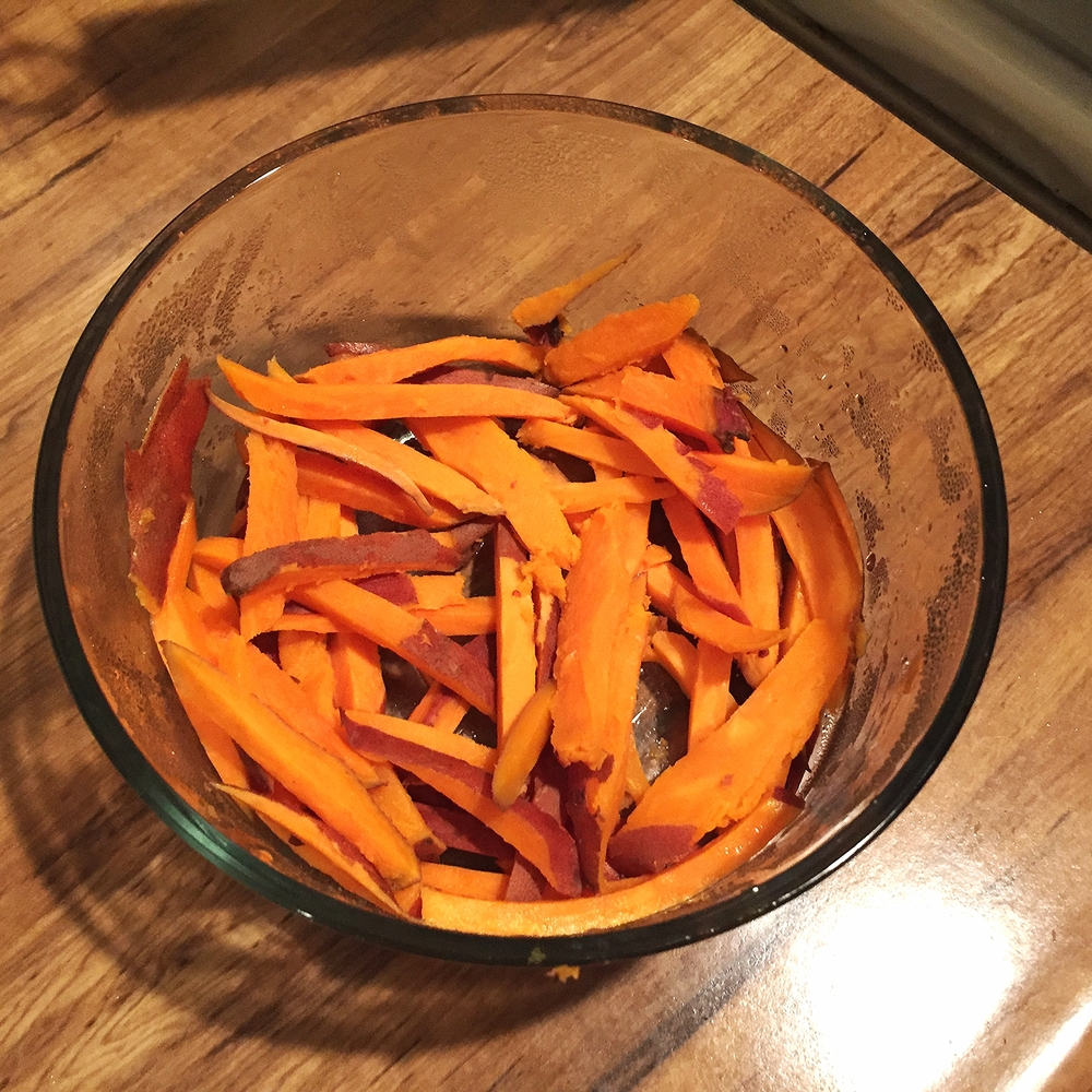 Raw Sweet Potato Fries