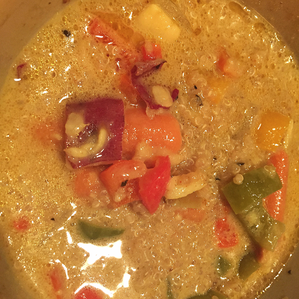 Vegetable coconut milk curry