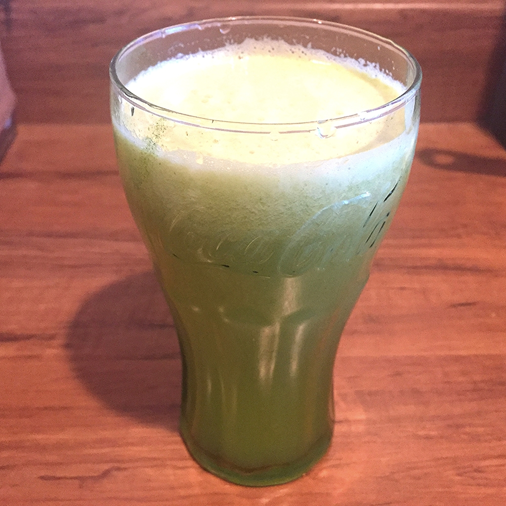 Pineapple, cucumber and celery juice
