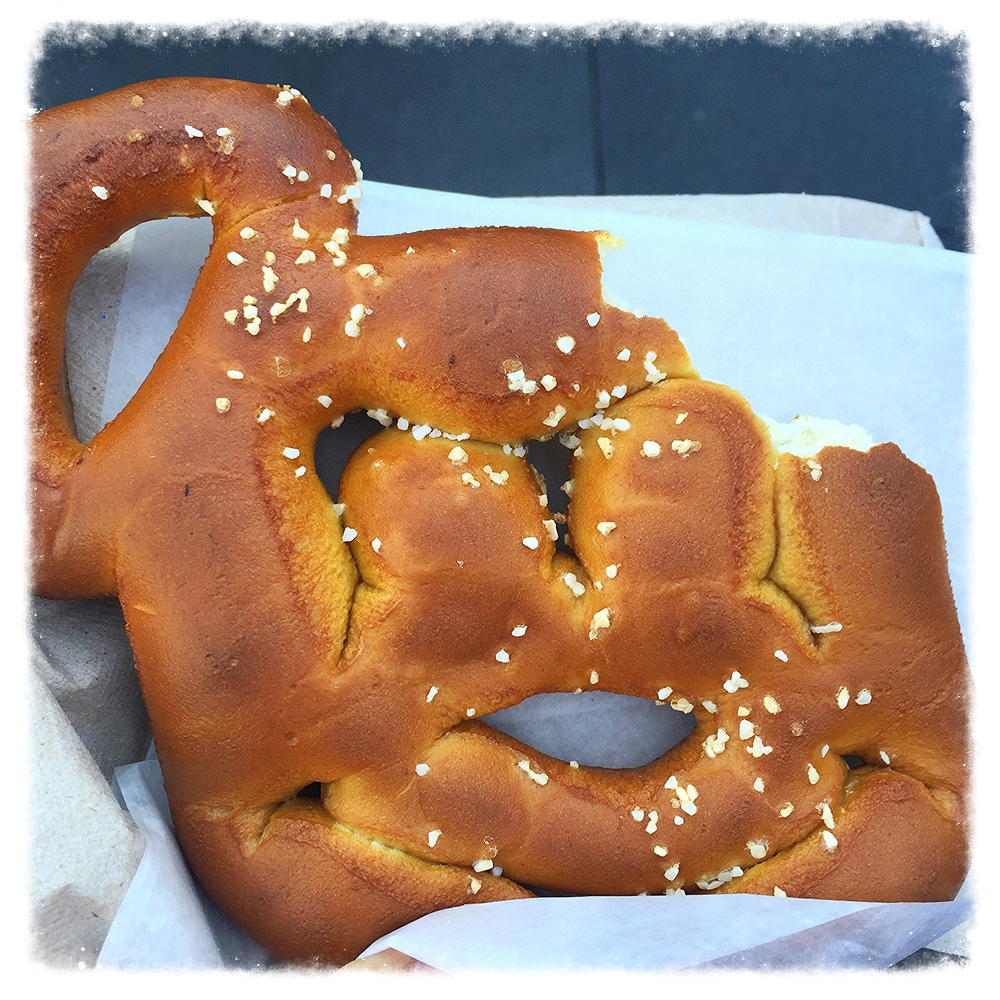 Mickey Mouse salted pretzel at Disneyland
