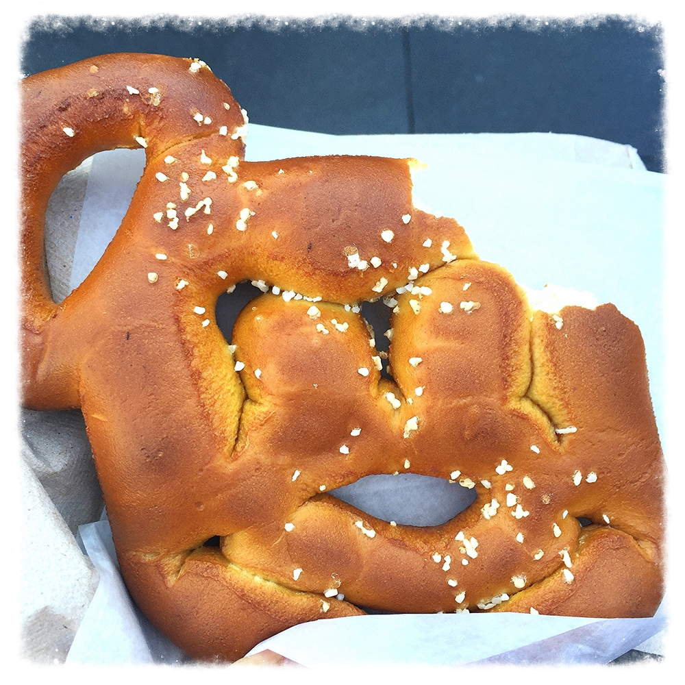 Vegan Mickey Mouse salted pretzel