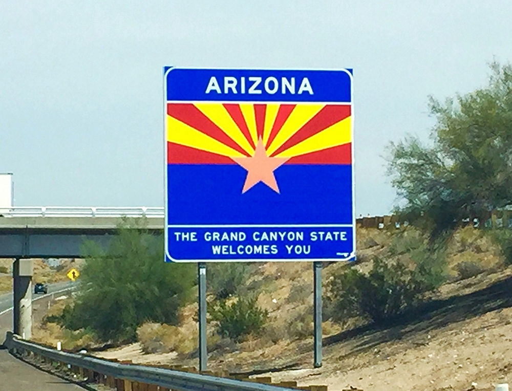 Crossing the Arizona border