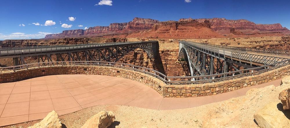 Navajo Bridge overlooking Vermillion Cliffs
