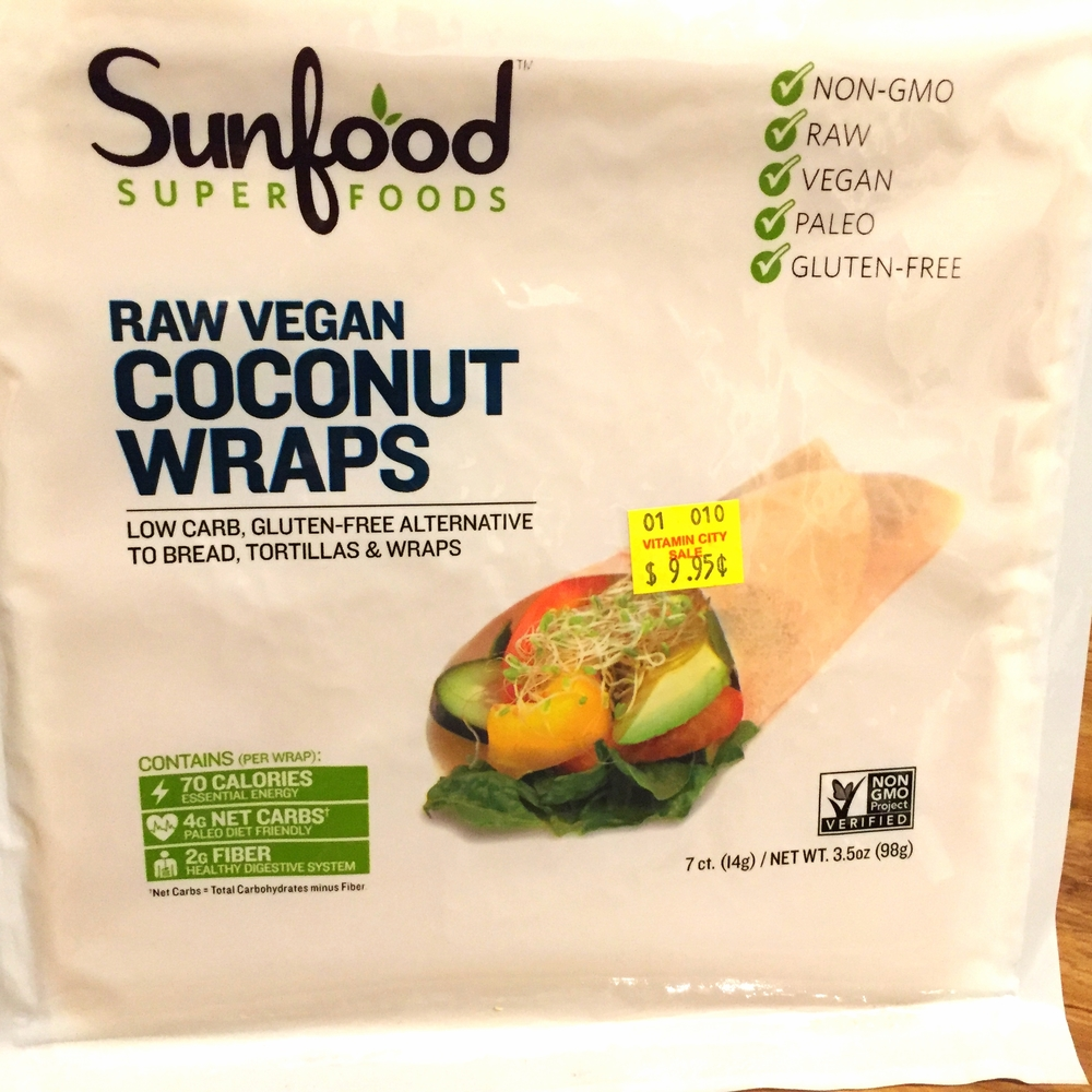 Sunfood Super Foods Raw Vegan Coconut Wraps