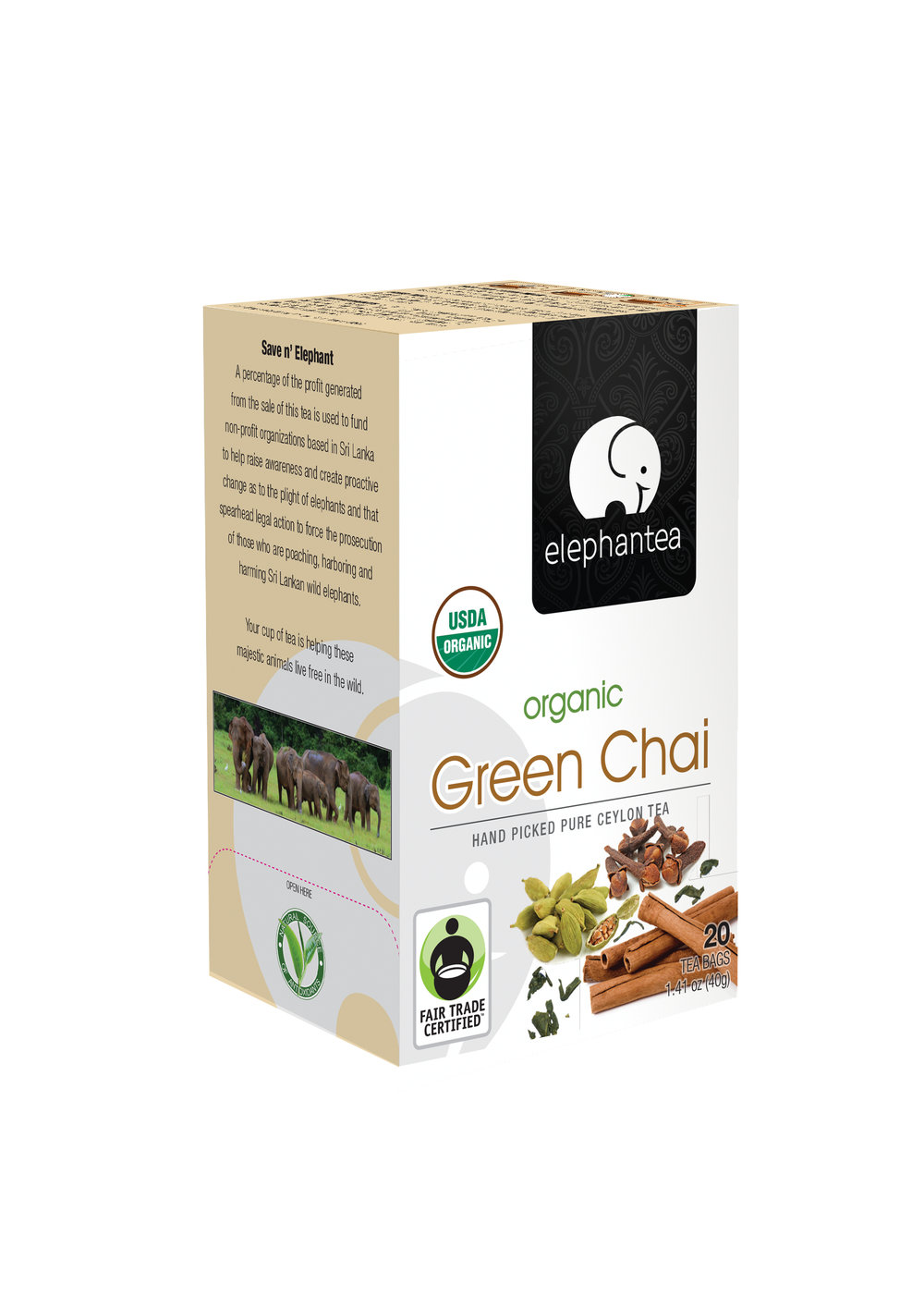 elephantea Organic Green Chai