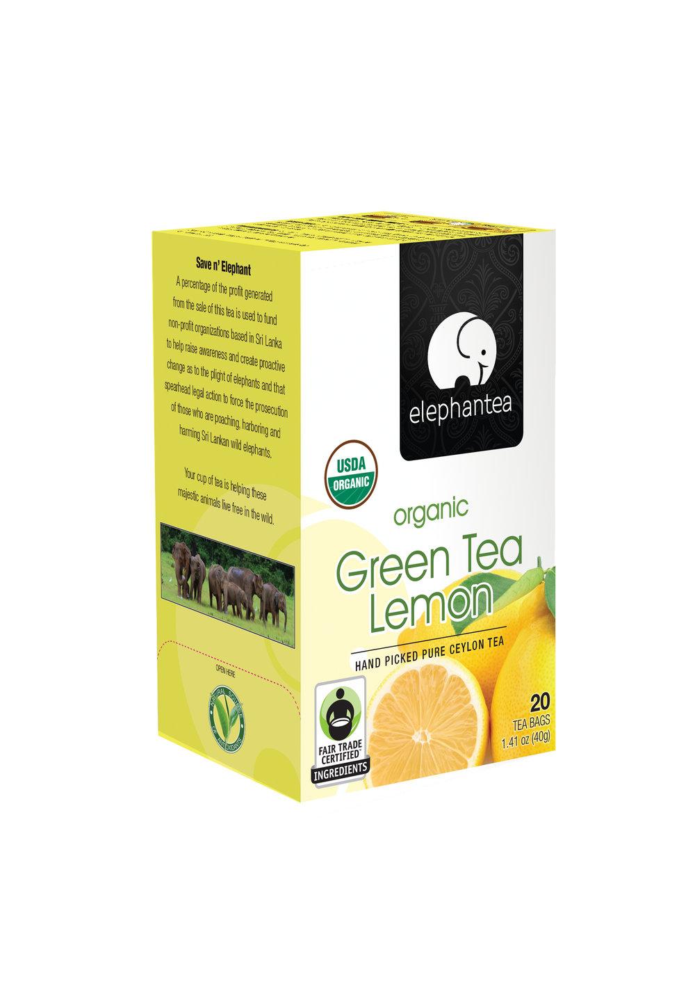 elephantea Organic Green Tea Lemon