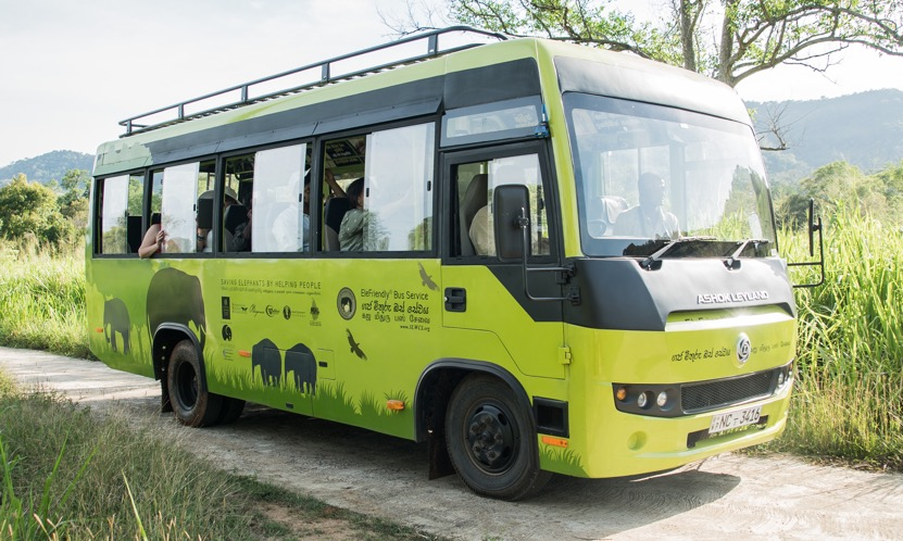 elephantea is a corporate partner for the EleFriendly Bus, part of Sri Lanka Wildlife Conservation Society's efforts to quell human-elephant conflicts by providing educational and safe transportation through an elephant corridor
